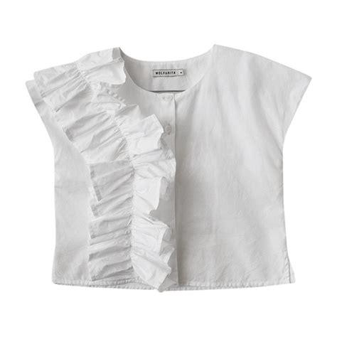Mirisa Blouse leo wolf marisa blouse white