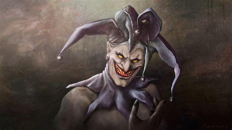 dark jester wallpaper where were you evil jester with cat eyes by ekknight on