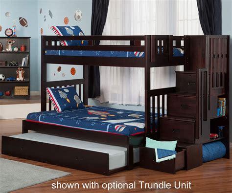 bedroom allentown twin  twin bunk bed espresso