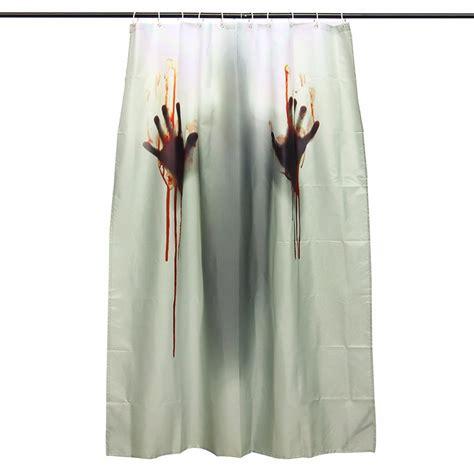 halloween horror blood bath polyester shower curtain bathroom decor hooks alexnldcom