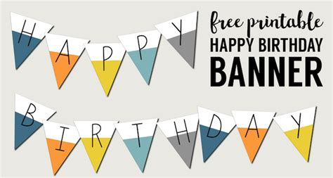 printable happy birthday banner free printable happy birthday banner paper trail design