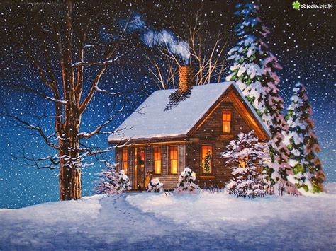images of christmas scenery snowy christmas cabin www imgkid com the image kid has it