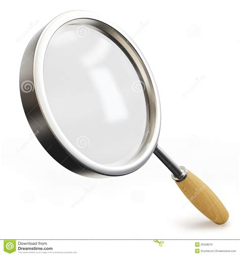 3d Magnifying Glass 3d magnifying glass royalty free stock images image