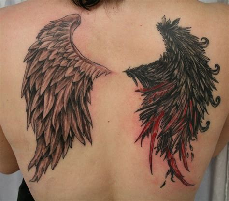 angel tattoo real angel devil wings tattoos real photo pictures images