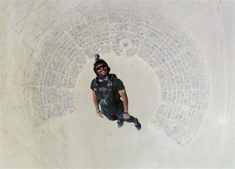 picture of the day skydiving into burning man 171 twistedsifter