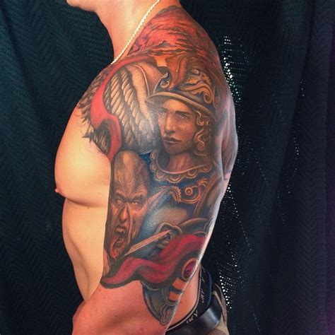 st michael tattoo meaning 20 protecting st michael tattoos