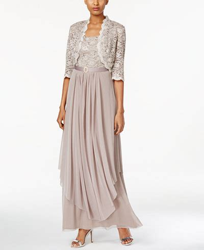 Bridesmaid Dress Fitting Near Me - r m richards sequined lace belted gown and jacket
