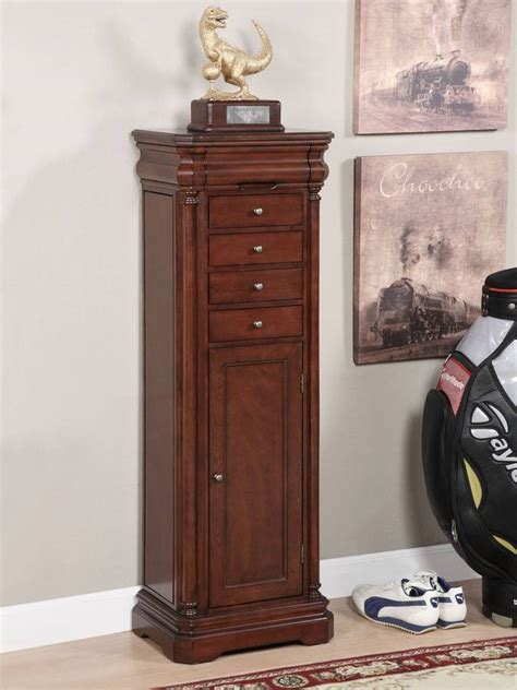 louis philippe armoire cherry louis philippe jewelry armoire in cherry finish jewelry
