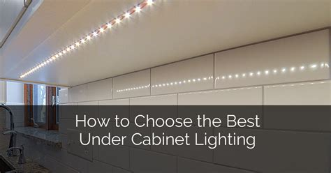 Kitchen With Light Cabinets How To Choose The Best Under Cabinet Lighting Home