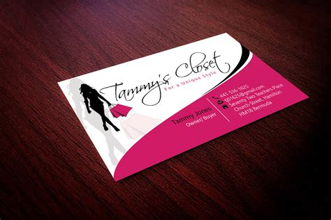 Business Card Design For Clothing Store masculine bold jewelry business card design for a