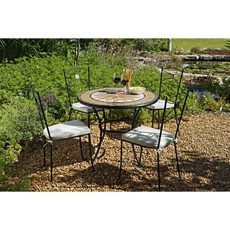 Homebase Bistro Table Verona 2 Seater Bistro Set Black