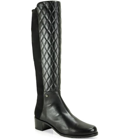 Black Quilted Boots by Stuart Weitzman Quilted Boot In Black Lyst