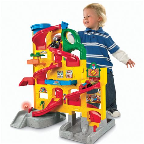 Kinder Autogarage by Fisher Price Little People Wheelies Stand N