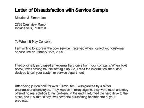 Response Letter To Dissatisfied Customer Sle Letter Unsatisfied Customer Sle Business Letter