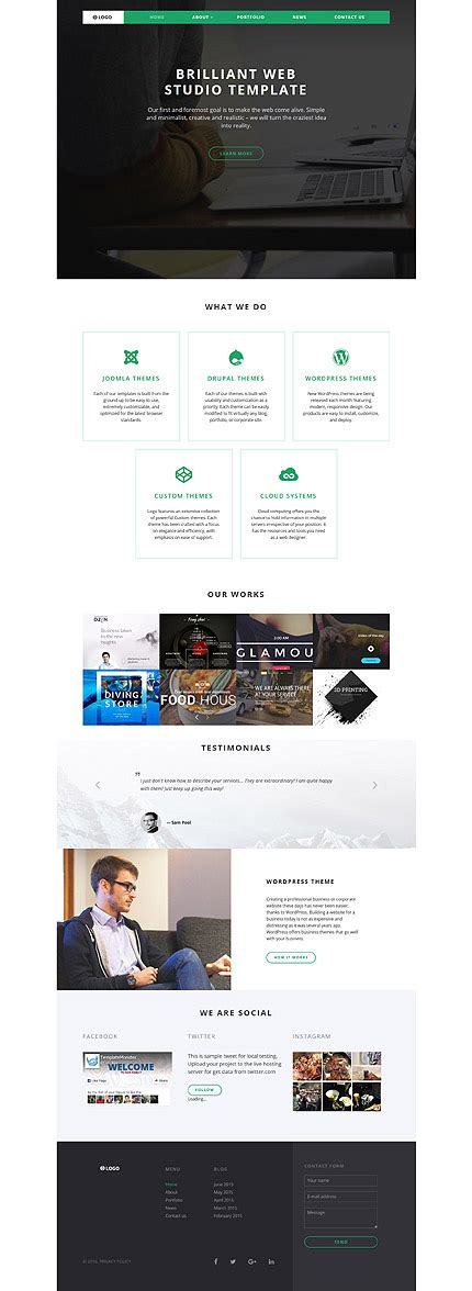 web layout javascript web design type website templates template 58104