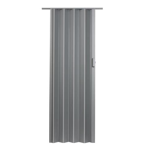 Shop Spectrum Elite Satin Silver Hollow Core Pvc Accordion Accordion Closet Doors
