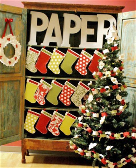 Crafts for Christmas: paper stockings   Paper Source Blog Paper Source Blog