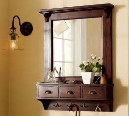 Entryway Mirror With Storage Wall Mount Entryway Organizer Mirror Traditional