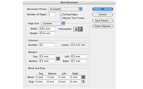 Indesign Files How To Set Up Business Card Layout Design For Press Adobe Indesign Business Card Template