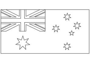 australian flag template to colour australian flag coloring page coloring free