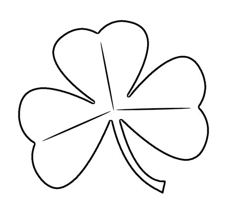shamrock templates printable free printable shamrock coloring pages for