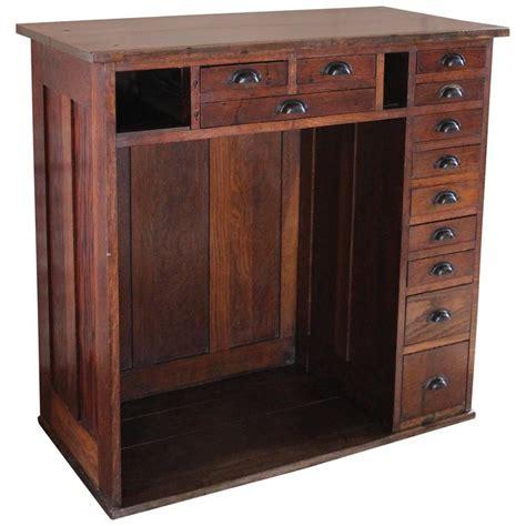 Vintage Storage Cabinets Vintage Oakwood Jeweler S Cabinet Storage Unit Metal Hardware At 1stdibs