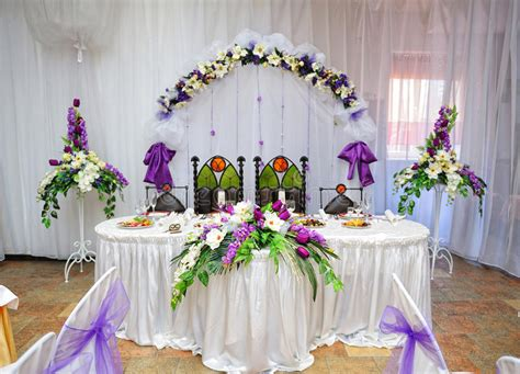 and groom table decorations wedding table decoration and groom stock photo