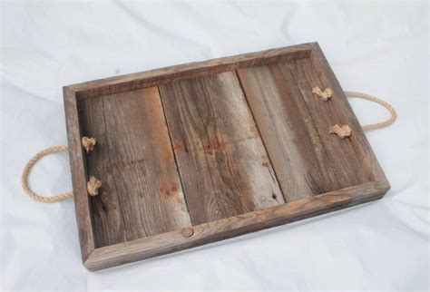 Old Barn Board Tray Barn Wood Tray Rustic Wooden Tray Wooden Tray For Coffee Table