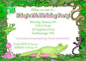 reptile alligator birthday invitations reptile birthday