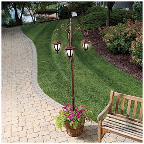 solar l post with planter base view solar light post plant stand deals at big lots