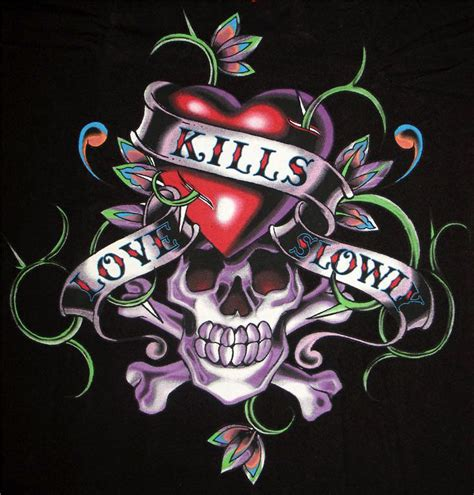 love kills slowly tattoo designs photo quot ed hardy kills slowly quot in the album quot member