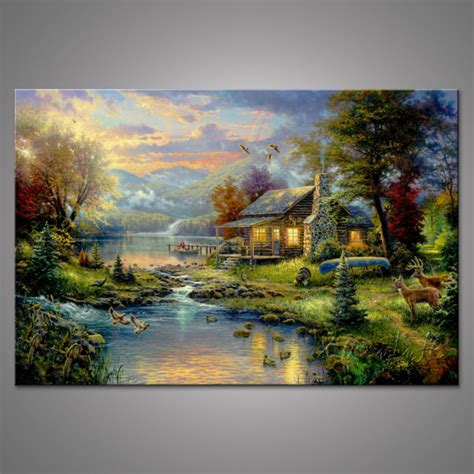cottage paintings by kinkade popular kinkade painting buy cheap