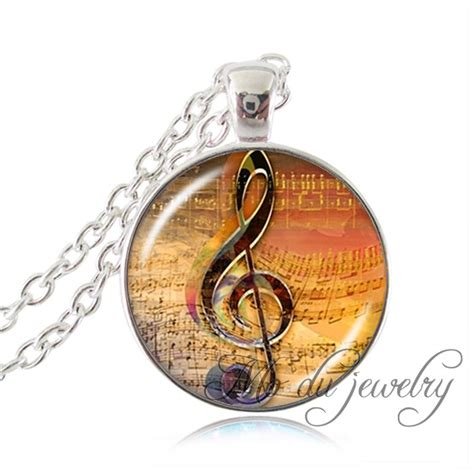 Treble Clef Pendant Necklace Kalung Musik Kunci G kaufen gro 223 handel notes aus china notes gro 223 h 228 ndler