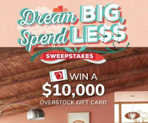 Overstock Discount Gift Card - win a 10 000 overstock com gift card