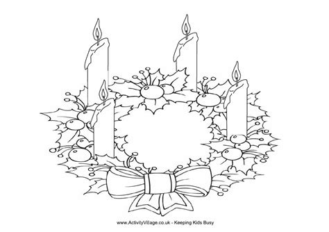 printable advent wreath coloring pages