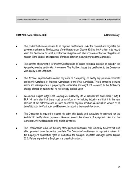 jct design and build contract clause 6 5 1 the architect as contract administrator a legal