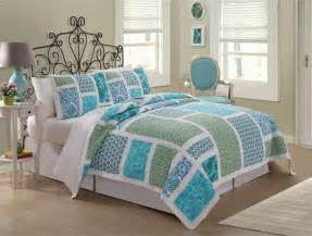 nautical beach cottage blue green floral twin full queen