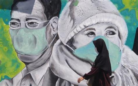 pesan moral lawan covid  lewat mural