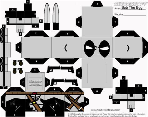 Deadpool Papercraft - x deadpool cubee by bobtheegg on deviantart
