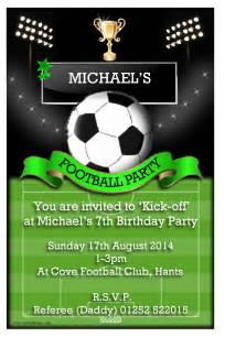 10 personalised football pitch soccer birthday