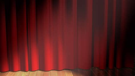 Red Curtain On Stage Wallpaper 14024