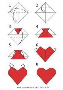 Origami E - cuore origami facile facile valentino 14 febbraio