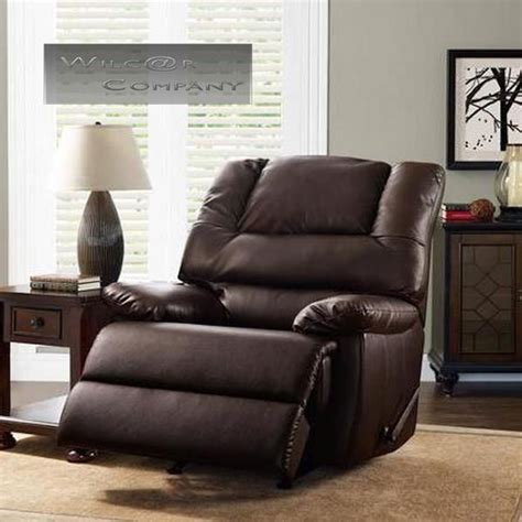 big man recliners leather new brown leather rocker recliner big man lazy chair