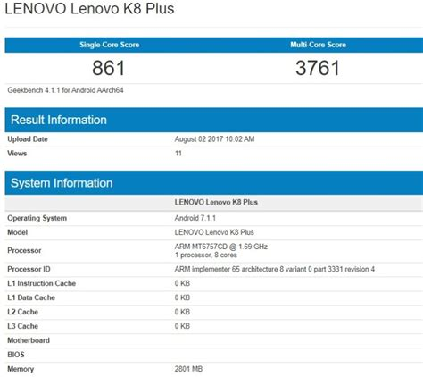 Lenovo K8 Plus lenovo k8 plus spotted with with 3gb ram mediatek helio