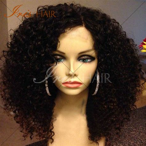 kinky curly human hair full lace front wigs brazilian human hair afro kinky curly full lace wig curl