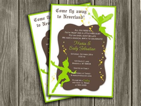 pan invitation template printable pan and tinkerbell inspired baby shower