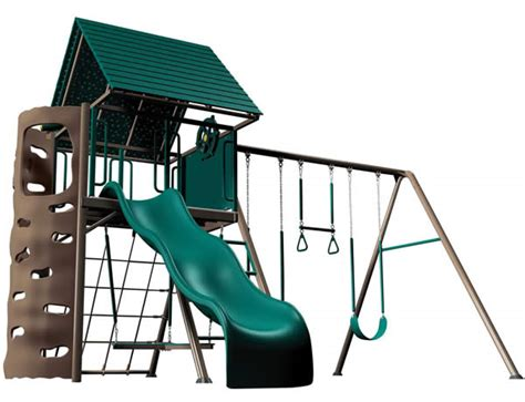 lifetime metal swing set playground playsets lifetime multi color earthtone