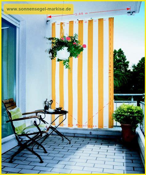 Windschutz Und Sichtschutz Fuer Einen Balkon