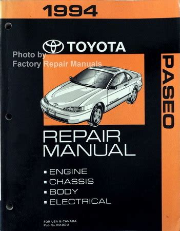manual repair free 1994 toyota paseo on board diagnostic system 1994 toyota paseo factory service manual original shop repair factory repair manuals