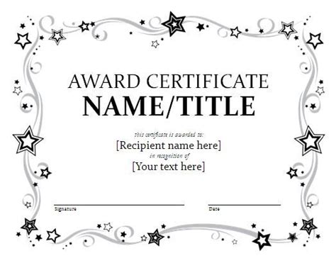 free printable award certificate template 25 best ideas about certificate templates on